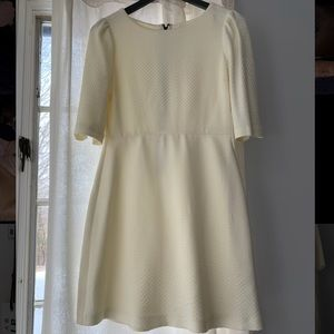 Alice + Olivia Winter White Mini Dress size 6